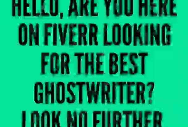 ghostwrite and Edit your Book, Kindle eBook and GuideBooks