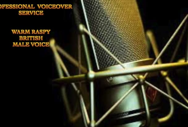 record a professional english voiceover in 24hrs