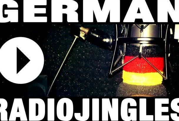 record a jingle in GERMAN