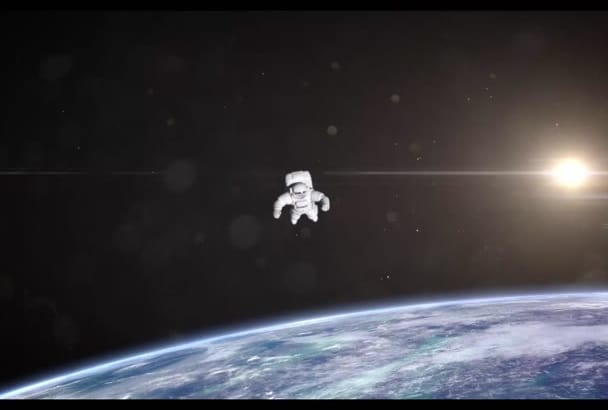 put your logo on the astronaut intro