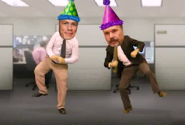 make farting office     dance birthday song video starring you
