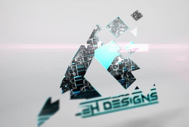 3d Transformer LOGO intro Animation Video