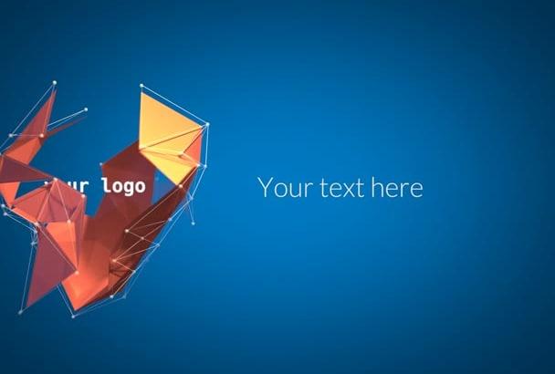 create a 3D Abstract Polygon logo intro