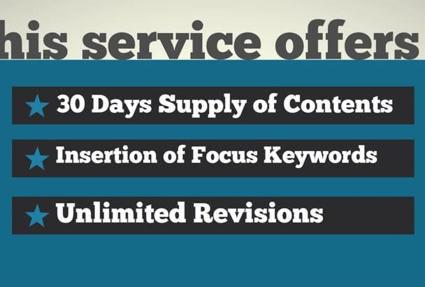 write A Month Worth of Blog Posts