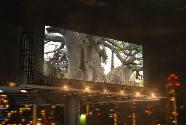 do video intro Billboard In Night City