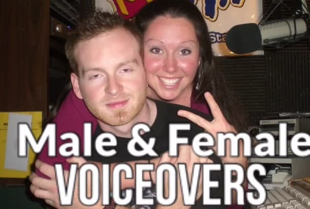 provide an Awesome Male and or Female Voice Over
