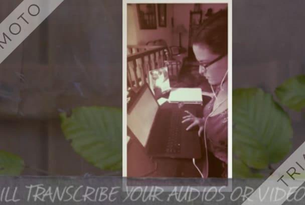 transcribe 30 min video or audio