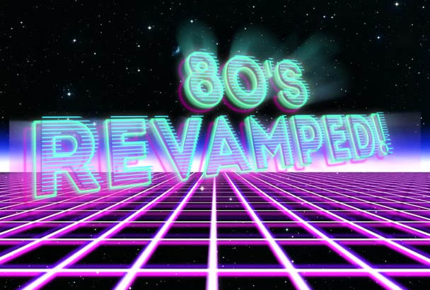 make this awesome 80s style intro with your text or logo