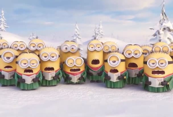 despicable Me Minion Christmas With Your Logo