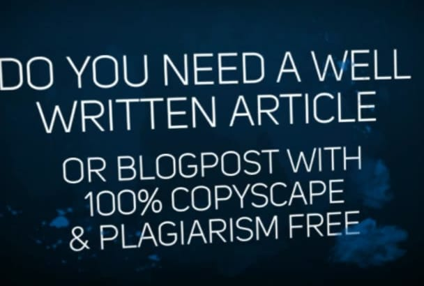 write an article or blog post for your blog and website