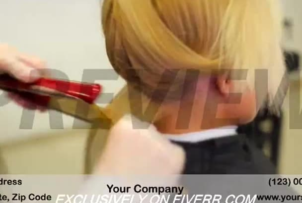 brand a video customized for Hair Salon business