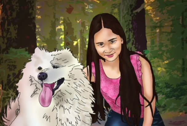 draw a digital portrait of your pet or favorite animal