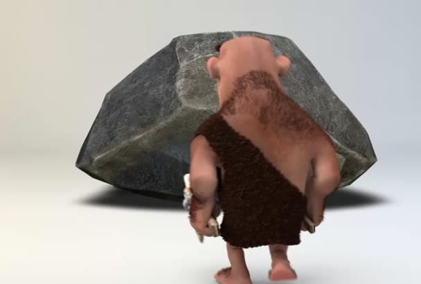 creat a great caveman intro for your logo