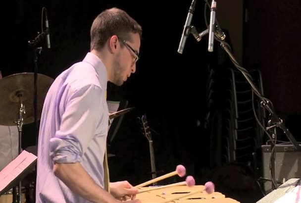 record an improvised vibraphone solo
