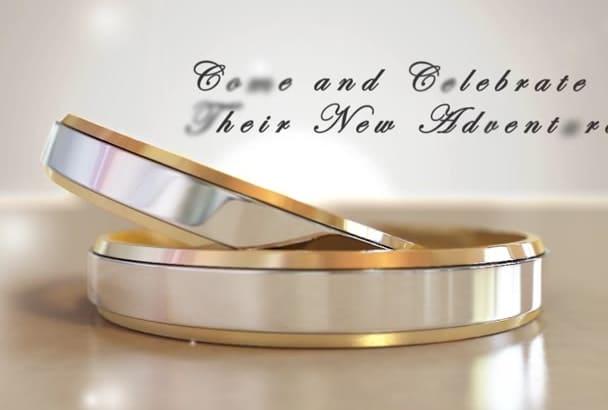 create Wedding Invite for whatsapp and online purpose