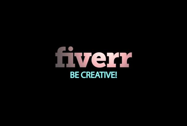 create this elegant logo intro