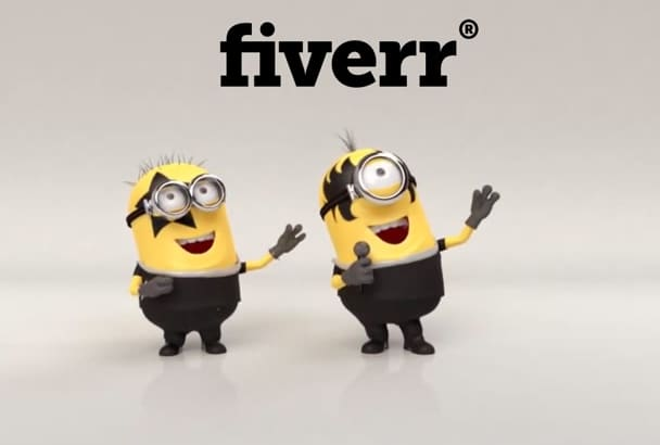make minion sing rock n roll and promote your business