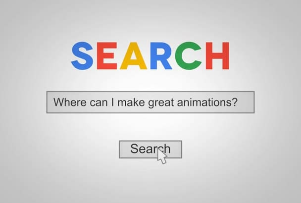 create Google Search Intro Animation Video
