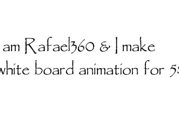 create Amazing Whiteboard Animation video