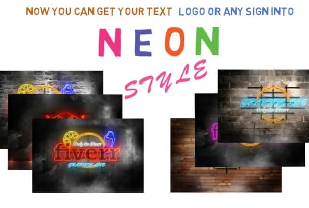 replicate Logo Text or Any Sign into Cool NEON Style