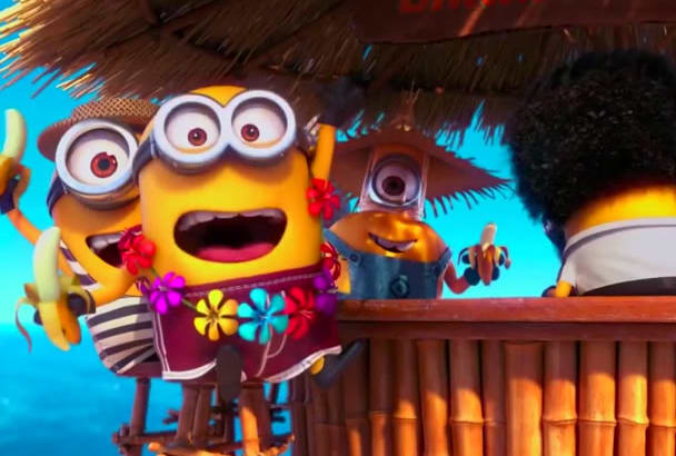 make beach Party minions FUNNY video to promote your logo