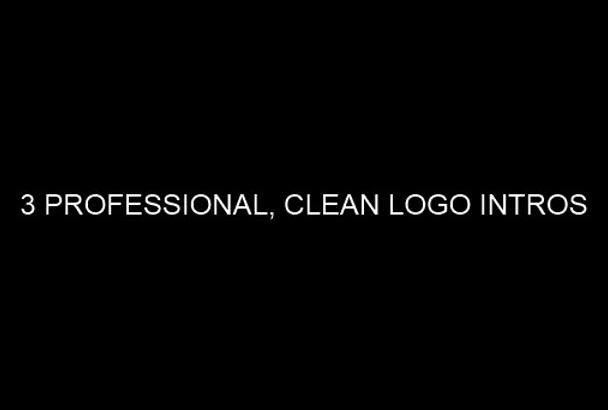 create 4 amazing logo animation intro video in 24 hours
