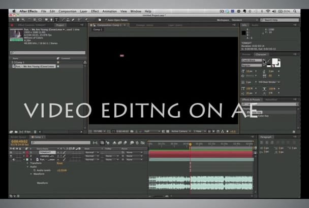 edit a video for you