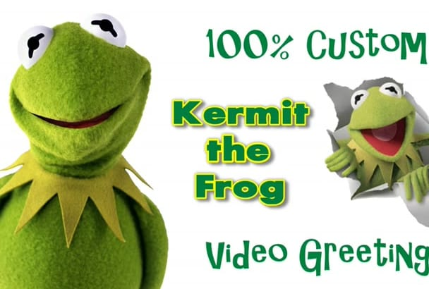 mimic Kermit The Frog In A 3D Animated VIDEO Greeting