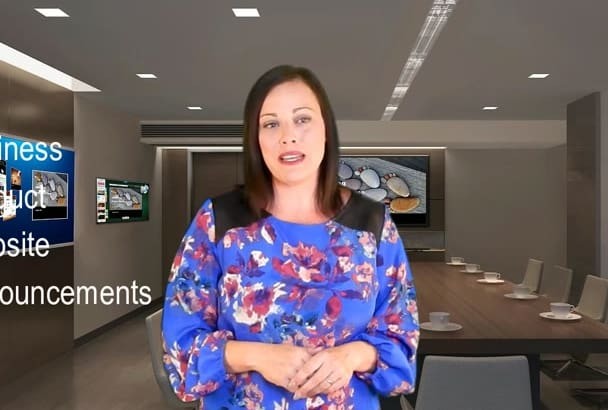 create a professional and creative spokesperson video