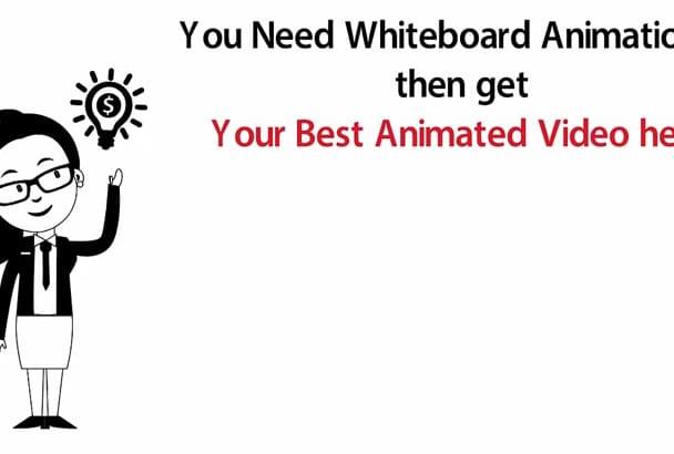 create Premium WHITEBOARD animation