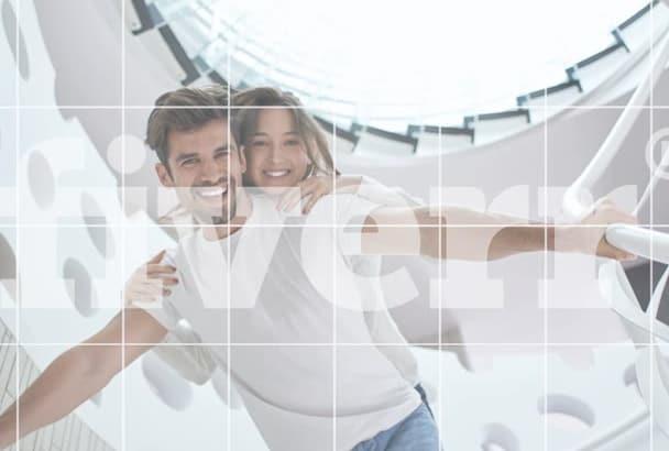 create a slide show of 7 photos