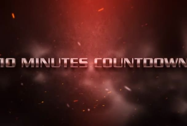 design video countdown or opening video