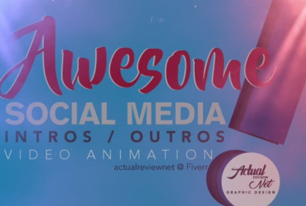 provide AWESOME social media intro and outro logo animations