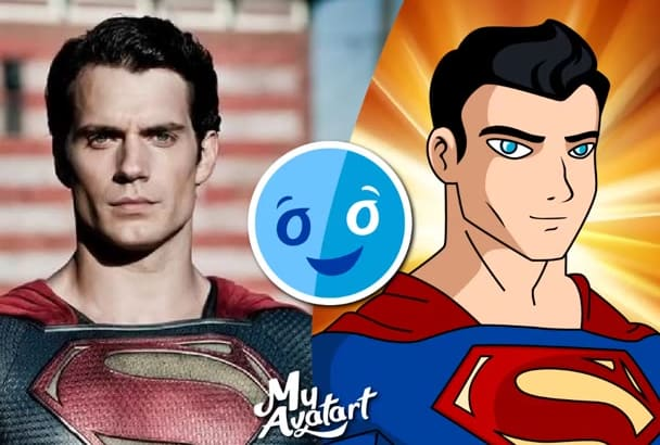 make DC comic superhero caricature yourself
