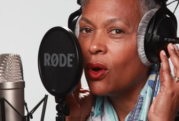 record a north american female voiceover project