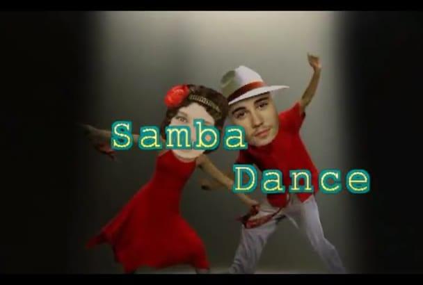 make SAMBA TaNGO Dance starring you