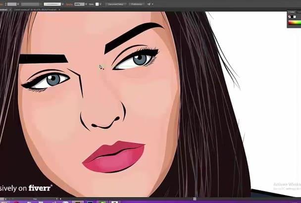 draw STUNNING cartoon portrait of you