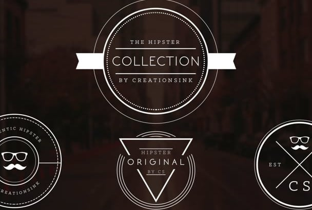 design and Create an Authentic Vintage Hipster Logo