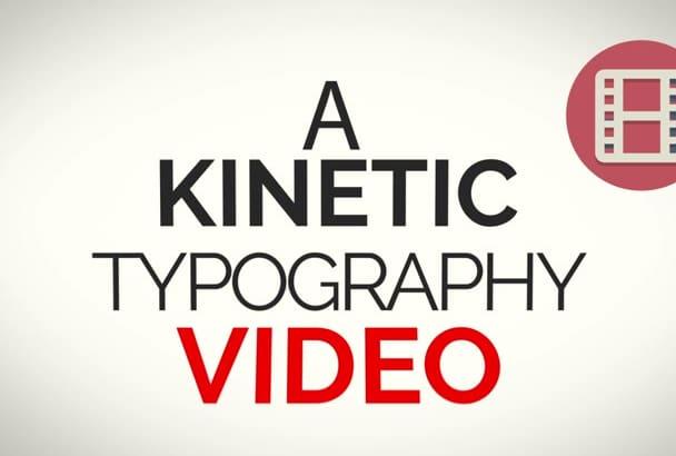 create an AMAZING Kinetic Typography Video