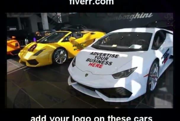 add image and logo on Lamborghini cars