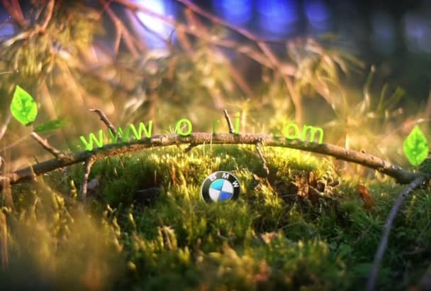 do nature, forrest, vegan  video intro logo animation