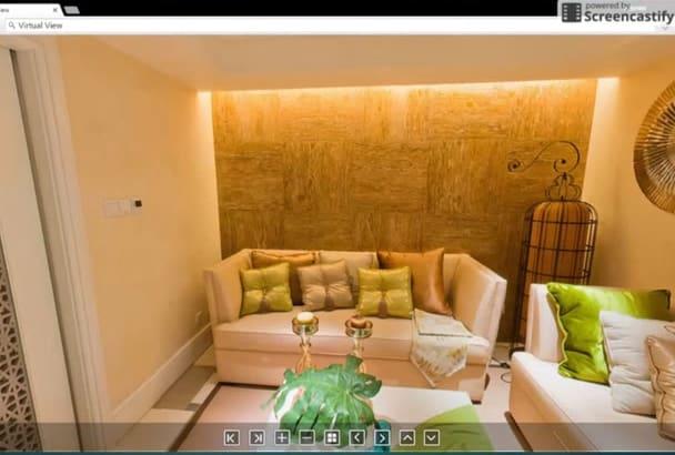 make virtual interior, exterior, website tour