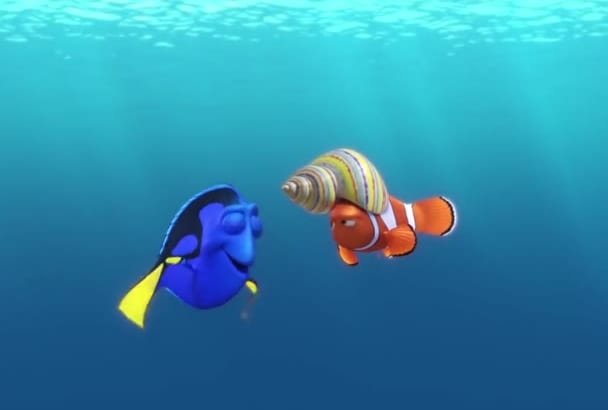 make a funny video with nemo and dory