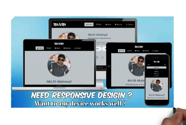 help you to fix any responsive issue in your website