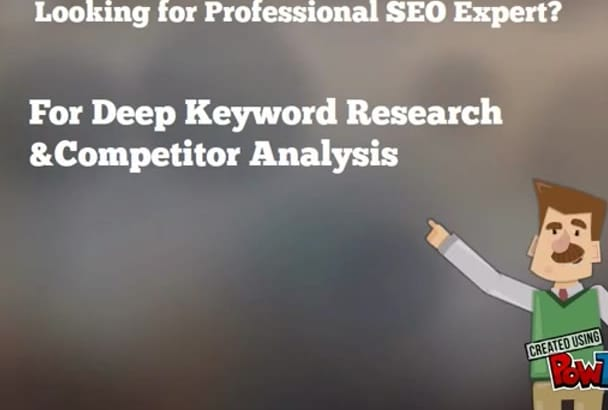 do Proper Keyword RESEARCH and Competitors analysis
