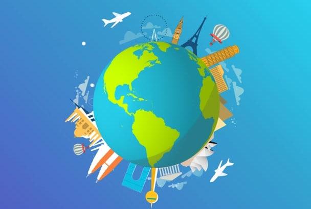 make World Travel Logo Animation in HD Quality