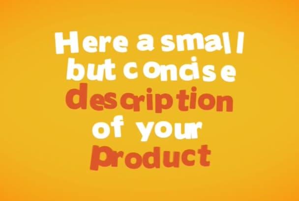 create custom profesional Explainer Video