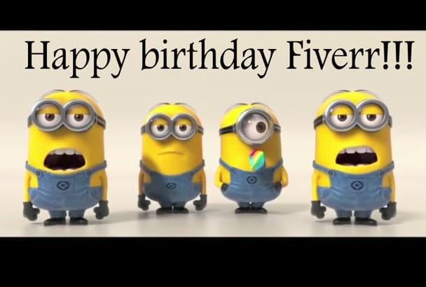 make a Minions Sing Happy Birthday