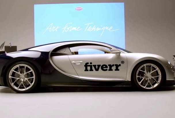 add your logo or message to this amazing last bugatti car