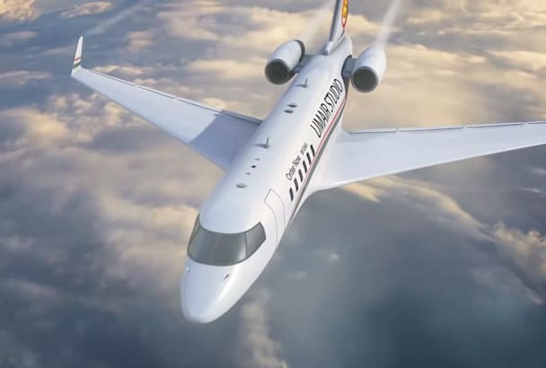 make Business jet Promotional video or intro